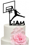 Basketball player with personalised name Cardboard Topper